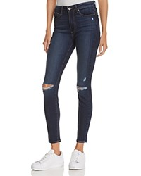 Paige Hoxton Ankle Skinny Jeans In Aveline Destructed