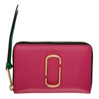 Marc Jacobs Pink Small Snapshot Standard Continental Wallet