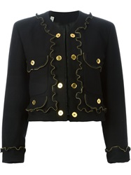 Moschino Vintage Zipper Detail Jacket Black