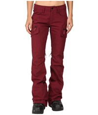 Burton Gloria Pants Sangria Women's Casual Pants Red