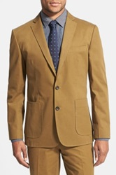Wallin And Bros Trim Fit Cotton Blazer Brown