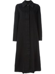 Maison Martin Margiela Mm6 Raw Edge Denim Coat Black