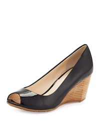 Cole Haan Sadie Grand Patent Leather Wedge Pump Black