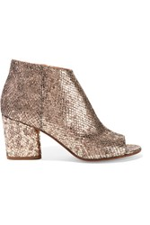Maison Martin Margiela Maison Margiela Metallic Snake Effect Leather Ankle Boots Gold