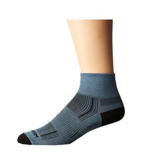 Wrightsock Stride Quarter Grey Quarter Length Socks Shoes Gray