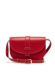 A.P.C. Eloise Leather Saddle Cross Body Bag Red