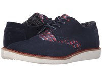 Toms Brogue Republican Elephants Dark Blue Men's Lace Up Casual Shoes