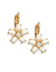 Kate Spade Floral Leverback Earrings Gold