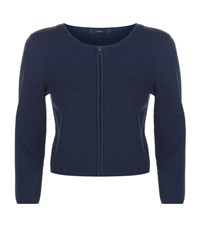 Set Ribbed Knit Cardigan Female Dress Blues