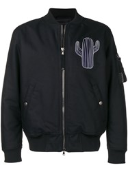 Diesel Black Gold Padded Jacket With Hunting Embroidery Black