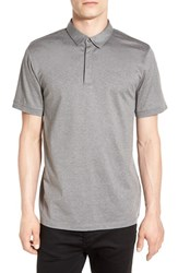 Calibrate Men's Mercerized Cotton Jersey Polo Grey Shade Heather