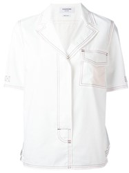 Thom Browne Contrast Shirt White