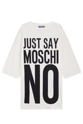 Moschino Oversized Printed Dress White