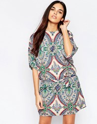 Mela Loves London Mosaic Print Tunic Dress Multi
