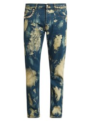 Gucci Bleached Slim Fit Jeans Blue