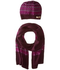Columbia Winter Worn Hat And Scarf Set Purple Dahlia Cold Weather Hats