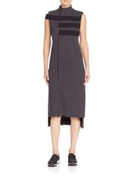 Y 3 Striped Track Dress Charcoal Melange