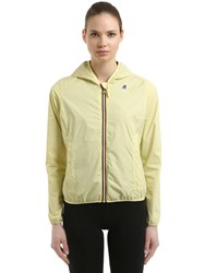 K Way Lily Hooded Jersey Jacket Yellow