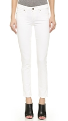 Paige Skyline Ankle Skinny Jeans Optic White