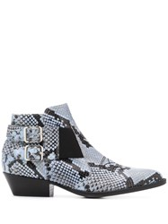 Pollini Snakeskin Ankle Boots 60