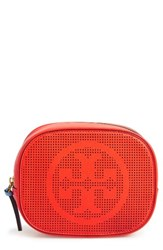 Tory Burch Perforated Leather Cosmetics Case Samba