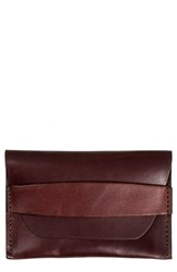 United By Blue Leather Flapped Card Case Brown Dark Brown