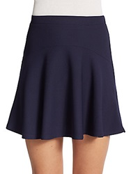 Saks Fifth Avenue Red Textured Flippy Skirt Navy