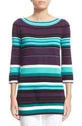 Women's St. John Collection Multi Stripe Knit Tunic