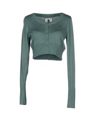 Duck Farm Wrap Cardigans Emerald Green
