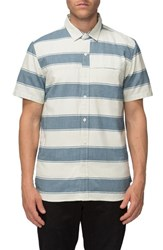 Tavik Men's 'Shin' Stripe Oxford Shirt Bone Blue