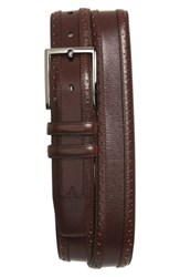 Mezlan Men's Leather Belt Dark Brown