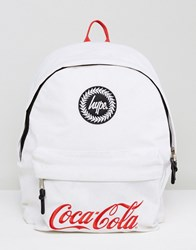 Hype X Coca Cola Backpack In White With Cooler Lining White