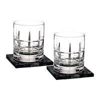 Waterford Dof Tumbler And Marble Coaster Set Of 2 Cluin