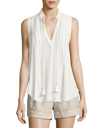 Bishop Young Braided Trim Tank Top White