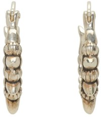 Pamela Love Silver Tribal Spike Hoop Earrings