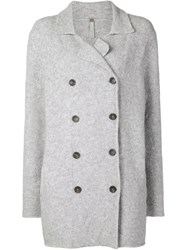 Soyer Double Breasted Cardigan Grey