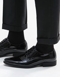 Asos Derby Shoes In Black Patent Black