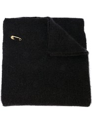 Versace Safety Pin Knitted Scarf 60