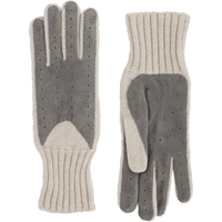Barneys New York Driving Gloves Light Gray