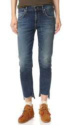 Citizens Of Humanity The Principle Girlfriend Jeans With Raw Hem Riverbend