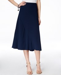 Inc International Concepts A Line Midi Skirt Only At Macy's Deep Twilight