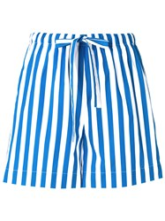 Aspesi Striped Shorts Blue