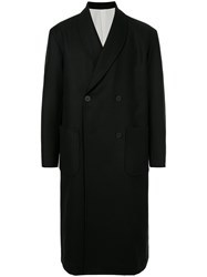 08Sircus Double Breasted Coat Black