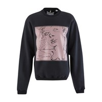 Oamc Beautiful Dreamer Round Neck Sweatshirt Black