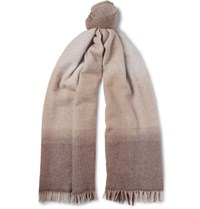 Brunello Cucinelli Degrade Wool And Cashmere Blend Scarf Beige