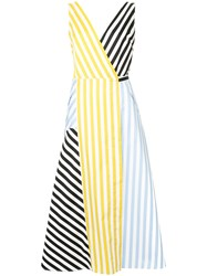 Anna October Striped Patchwork Dress Multicolour