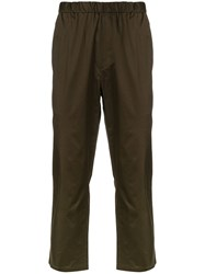 Oamc Cropped Trousers Green