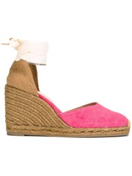 Castaner Lace Up Espadrilles Pink Purple