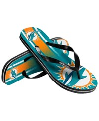 Forever Collectibles Miami Dolphins Gradient Big Logo Flip Flops Assorted