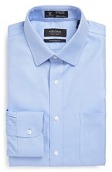 Men's Big And Tall Nordstrom Smartcare Traditional Fit Solid Dress Shirt Blue Provence